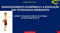 Unidade 7: Avanços em ciência e tecnologias da informação (Parte 2)