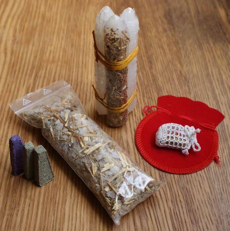 Kits de ritual de ajuda espiritual