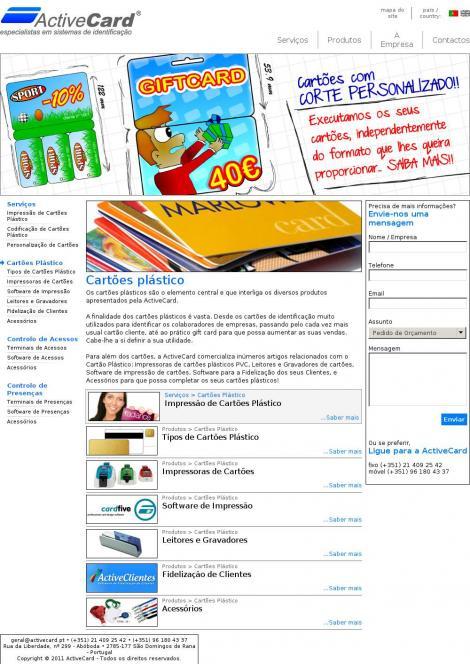 ActiveCard - cartões plásticos