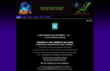 A Net + , Netmais: A net imediata: Criar Site é aqui: -Criação de Web - sites . Site económico . Cri