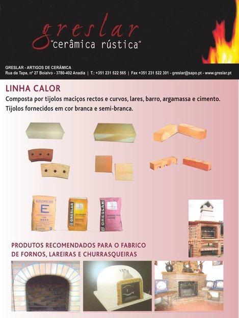 Tijolos Refractários_Tijolos Maciços_Tijolos Curvos_Lares para o forno_Tijolo face à vista